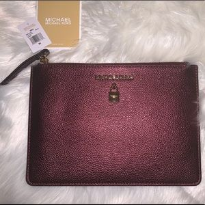"Michael Kors ""Adele"" XL Zip Clutch"